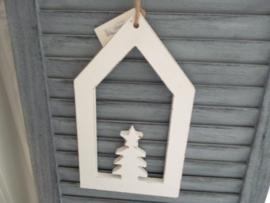 Houten hanger, kerstboom