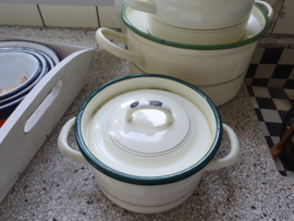 Pan emaille crème 17 cm