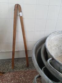 Brocante houten wastang