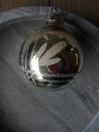 Oude kerstbal zilver, 15