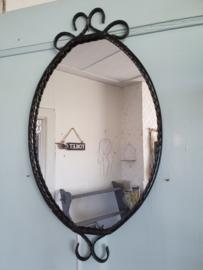 Brocante spiegel zwart