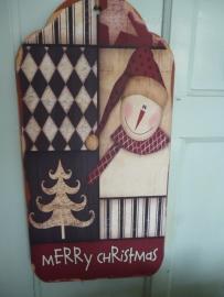 Groot hangend kerst bord
