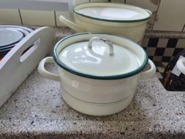 Pan emaille crème 19 cm