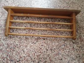 Brocante houten pannenrek