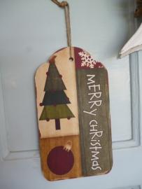 Kerst hanger hout,  merry christmas