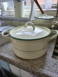 Pan emaille crème 25 cm