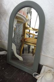 Brocante spiegel, groen/grijs