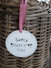 Kerst hanger Santa stop, M