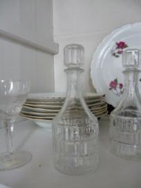 Brocante glazen stolp flesje