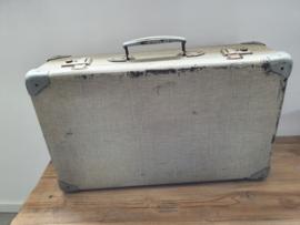 Brocante koffer grijs