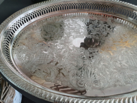 Brocante glas en zilver