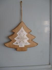 Kerst hanger hout, kerstboom