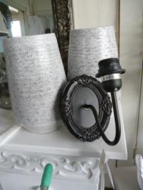 Wand lampje zwart, Clayre & eef