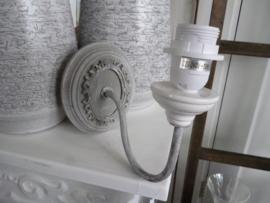 Wand lampje grijs, Clayre & eef