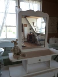 Brocante opzet spiegel