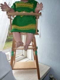 * Brocante * houten poppen stoeltje