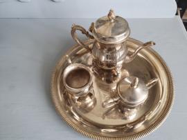 Brocante koffie set zilver