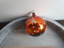 Vintage kerstbal oranje 89
