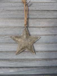 Kerst hanger ster, zink Smal