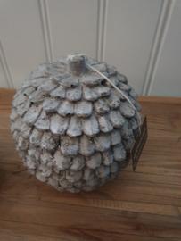 Bol ornament betonlook, large