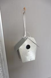 Hanger vogel huisje, zink