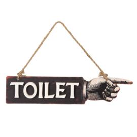 Tekstbord Toilet