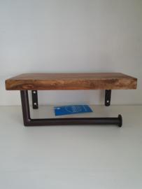 w.c rolhouder metaal en hout
