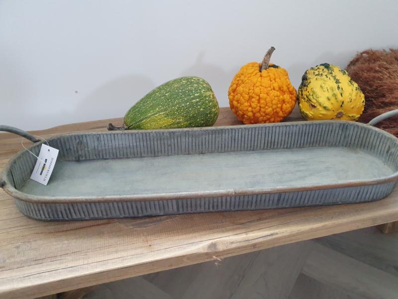 Dienblad zink 50 cm.