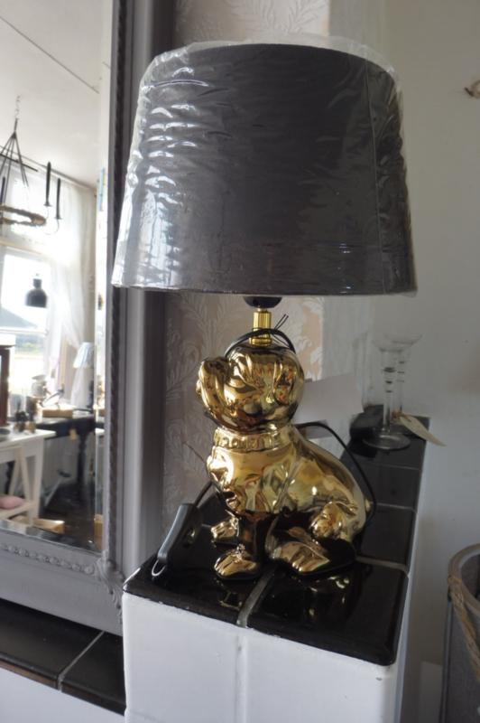 Lamp hond, goudkleurig