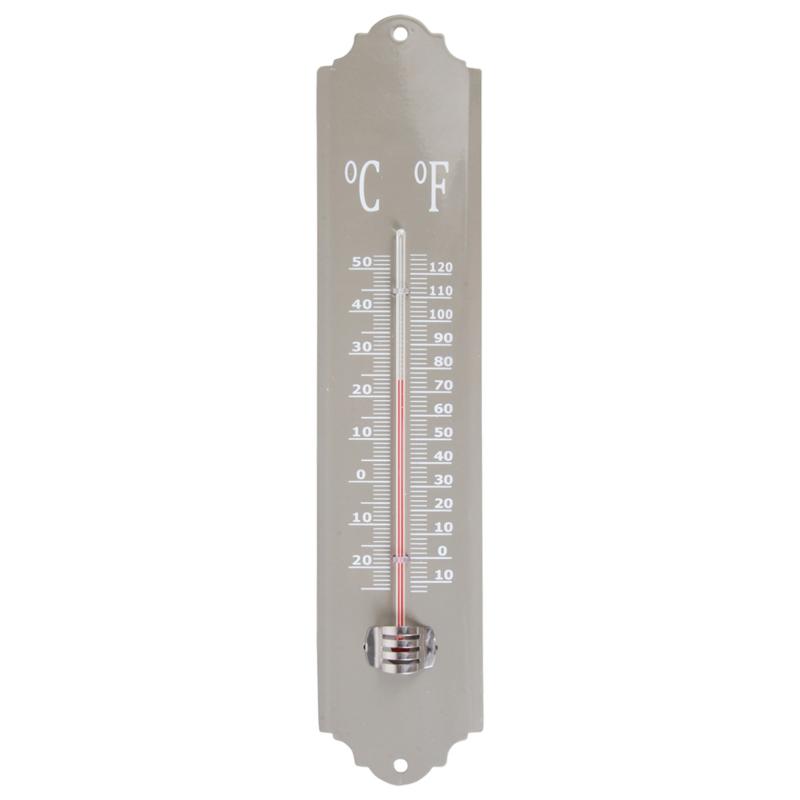 Buiten thermometer grijs