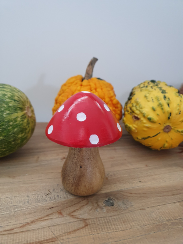 Houten paddenstoel klein