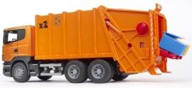 Scania R-serie vuilniswagen oranje
