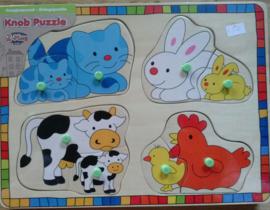 Dieren knopjes puzzel