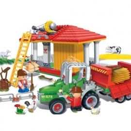 Tractor & hooi opslagplaats