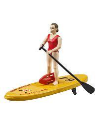 Strandwacht met sup board / surfplank