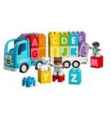 Duplo letter (alfabet) vrachtwagen
