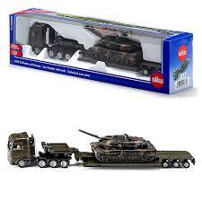 Dieplader met Leopard tank