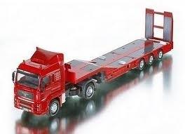 Man truck met dieplader ROOD