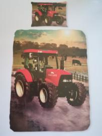 Dekbedovertrek rode tractor {case}
