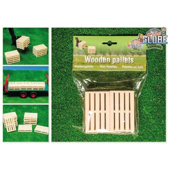 Houten pallets per 6