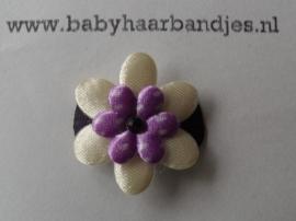 Baby haar knipje paars bloemetje.