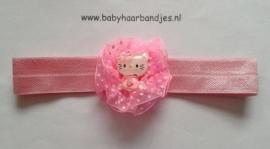 Voor de allerkleinste roze haarbandje met kitty.