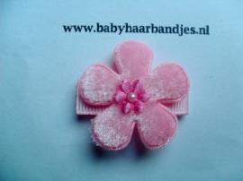 Lok speldje roze bloemetje.