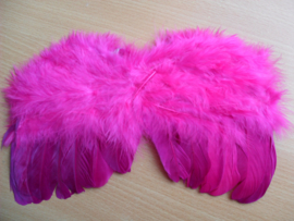 Roze/Paarse engelen vleugels zonder haarband.
