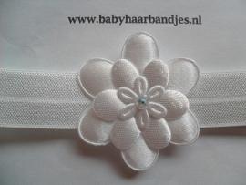 Voor de allerkleinste wit haarbandje met bloem .