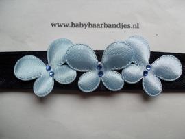 Voor de allerkleinste blauw haarbandje met vlindertjes.