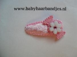3 cm baby haar knipje roze met snoepje.