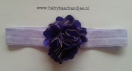 Voor de allerkleinste lila haarband met rozet.