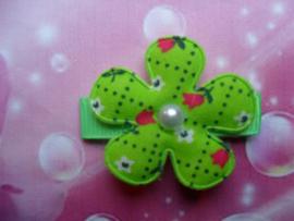 Lok speldje groen bloemetje.