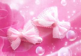3 cm baby haar knipje roze strikje.